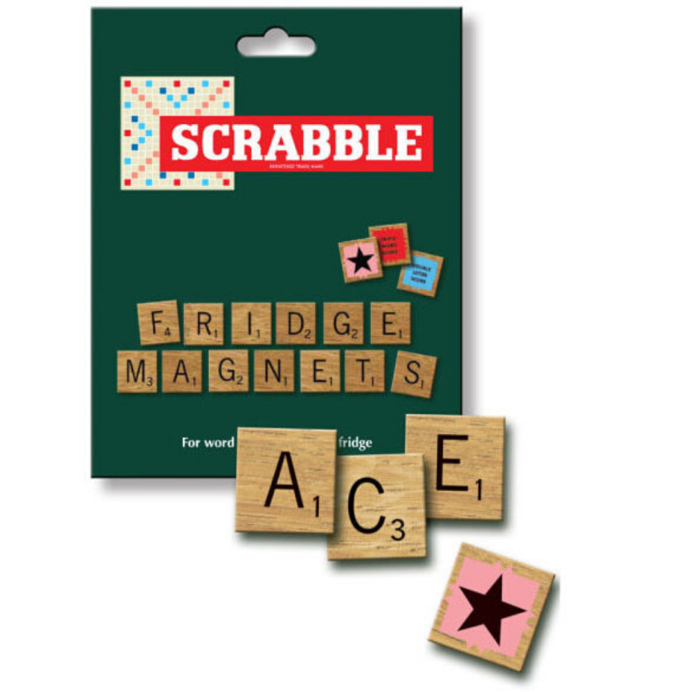 Scrabble Letters Fridge Magnetic Tiles from Funky Gifts NZ