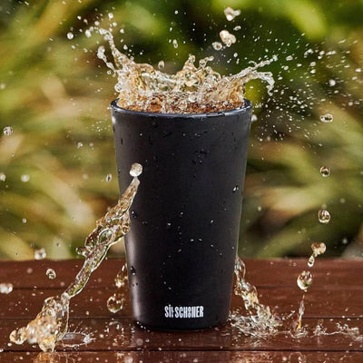 Sili Schooner 475ml Cup Black Silicone Unbreakable