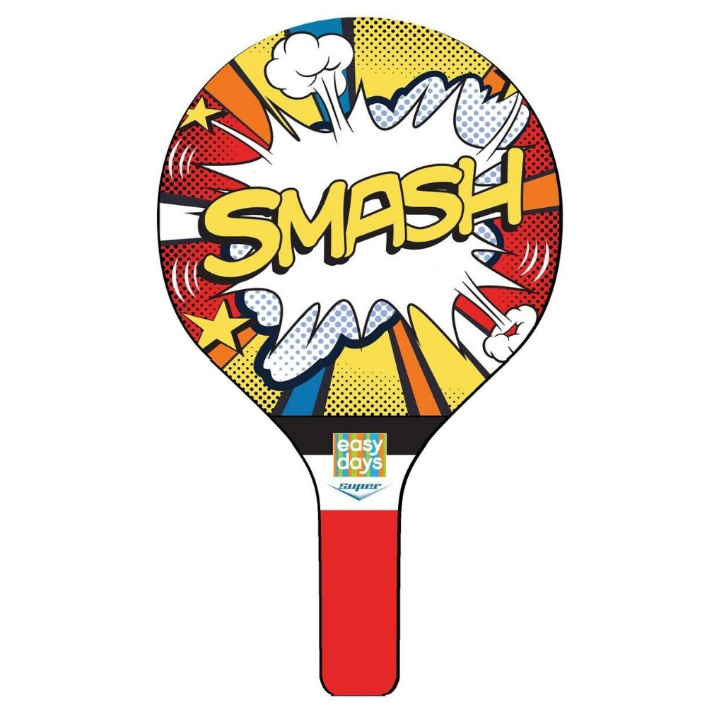Smash Ball Game Kids 2 Wooden Bats and 1 Rubber Ball