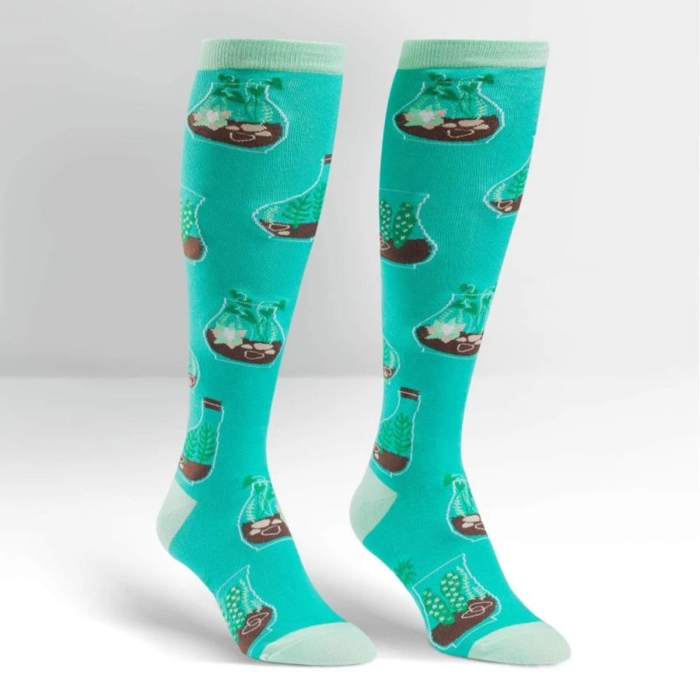 Sock It To Me Socks Women's Knee Terrific Terrariums