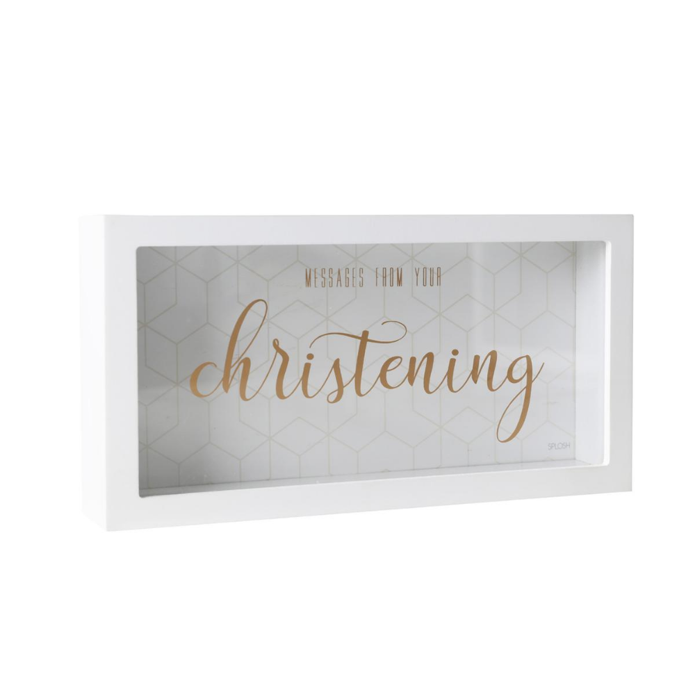 Christening message box from funky gifts nz