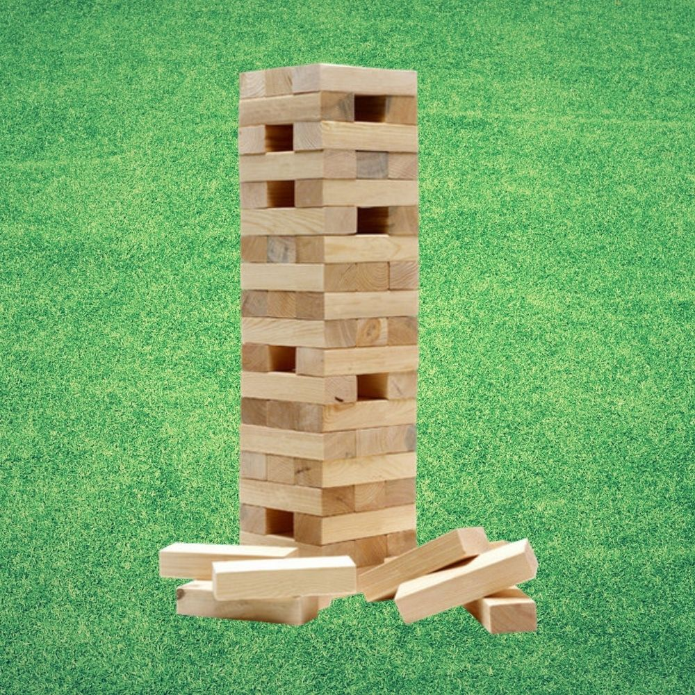 Outdoor Jenga Supersized from Funky Gifts NZ