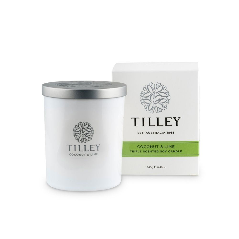 Tilley Soy Candle - Coconut & Lime