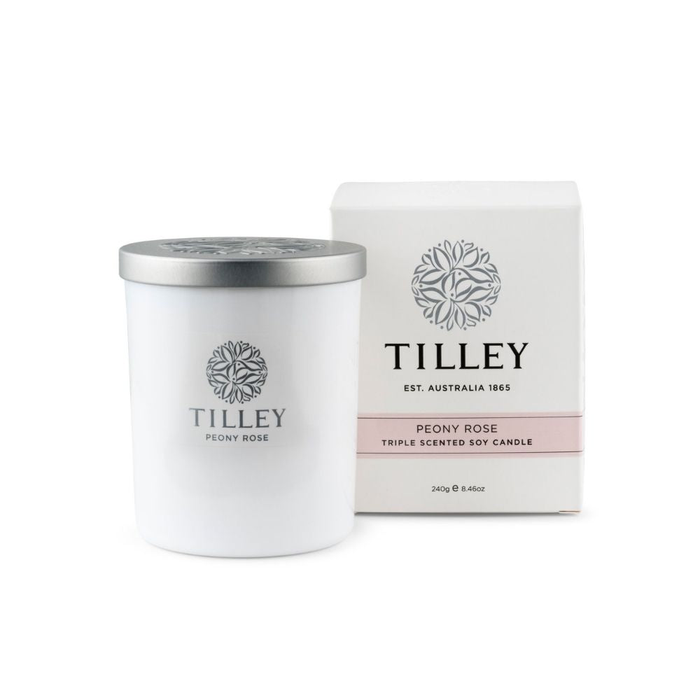 Tilley Soy Candle Peony Rose from Funky Gifts NZ