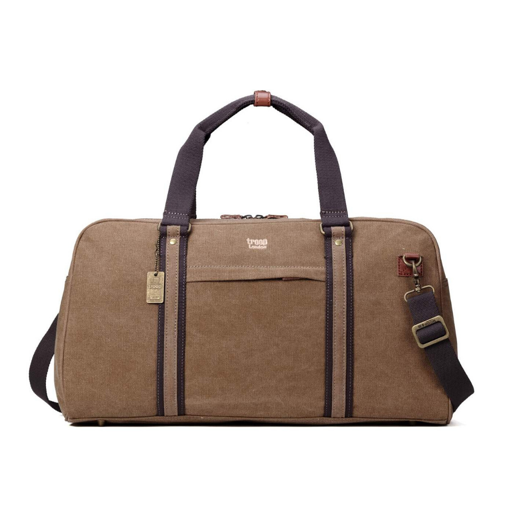 Troop Classic Large Hold-All Canvas Travel Bag - Brown