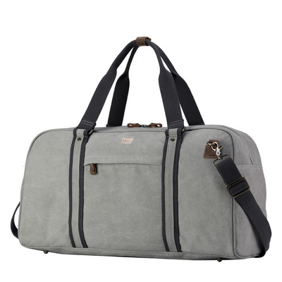 Troop Classic Hold-All Canvas Travel Bag - Ash Grey