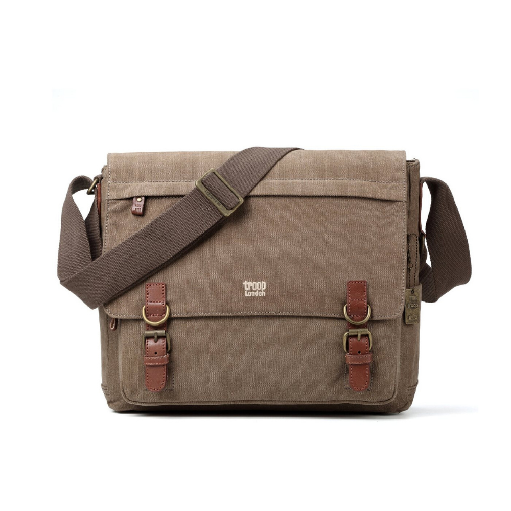 Troop London Classic Laptop Bag - Brown