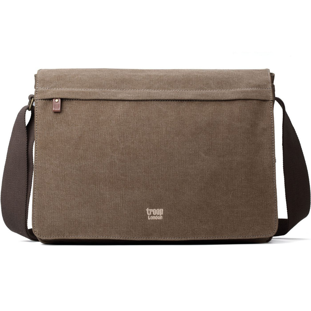 Troop Classic Laptop Messenger Bag (Front Flap) LARGE - Brown