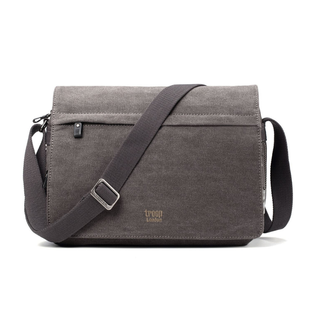 Troop Classic Messenger Bag (Front Flap) - Charcoal