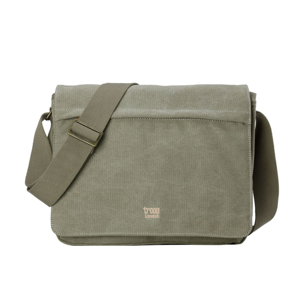 Troop Classic Messenger Bag (Front Flap) - Khaki