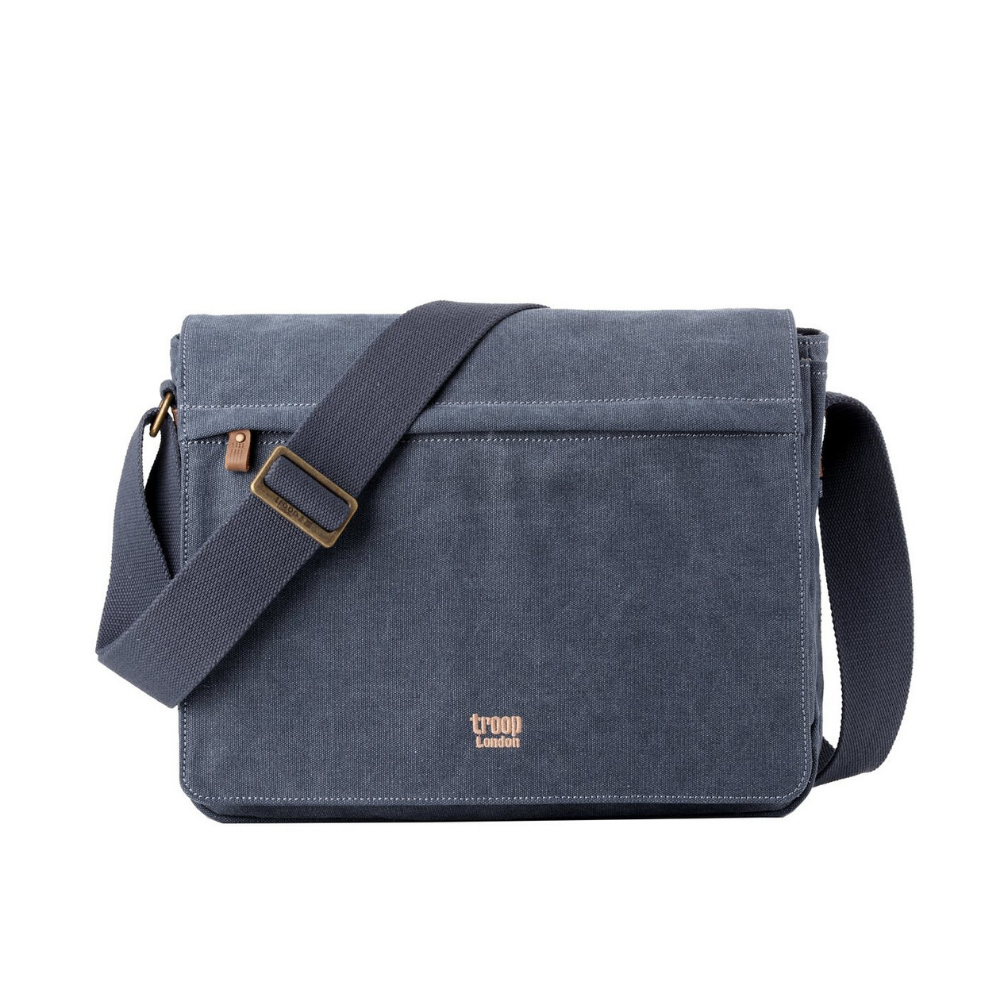 Troop Classic Messenger Bag (Front Flap) - Blue
