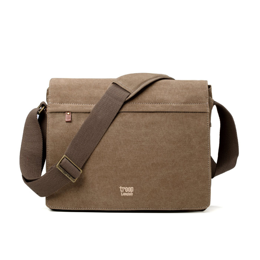 Troop Classic Messenger Bag (Front Flap) - Brown