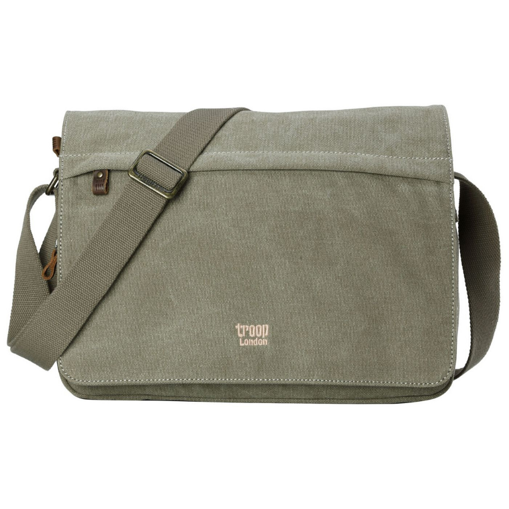 Troop Classic Laptop Messenger Bag (Front Flap) LARGE - Khaki