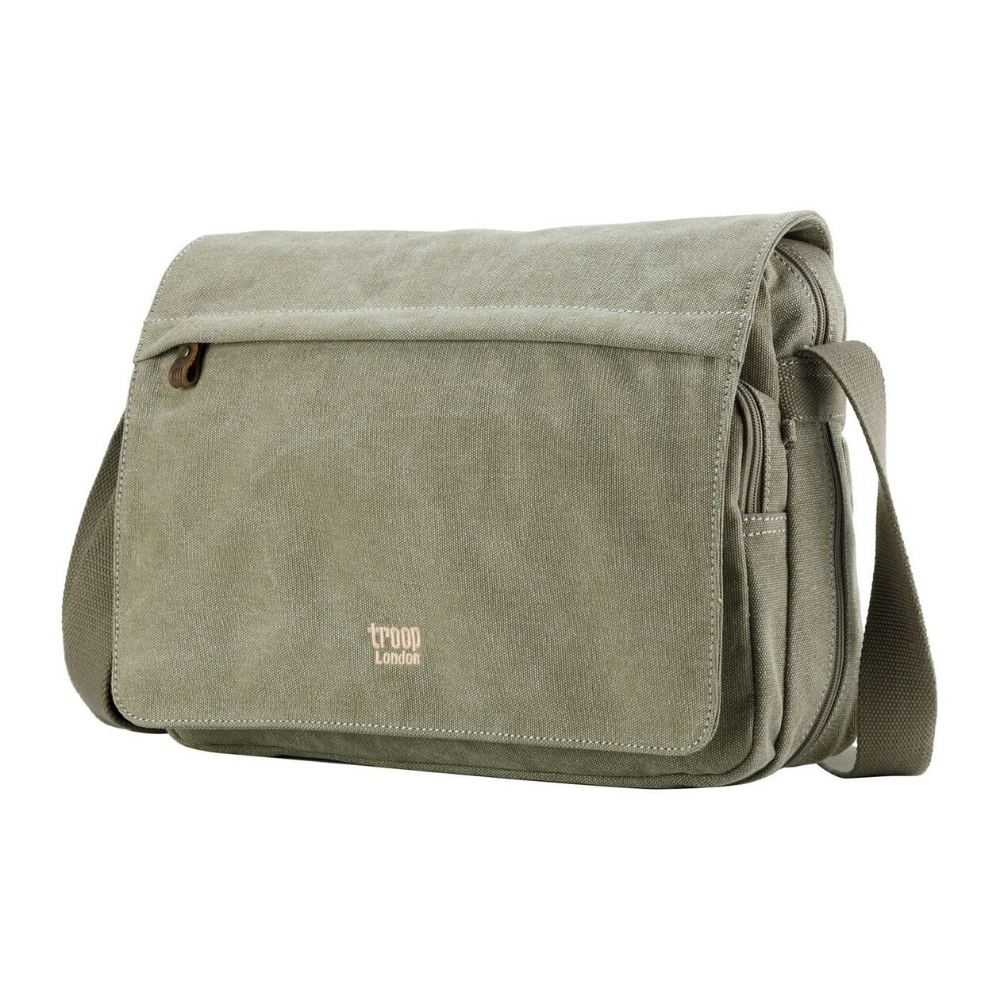 Troop Classic Messenger Bag Large- Khaki