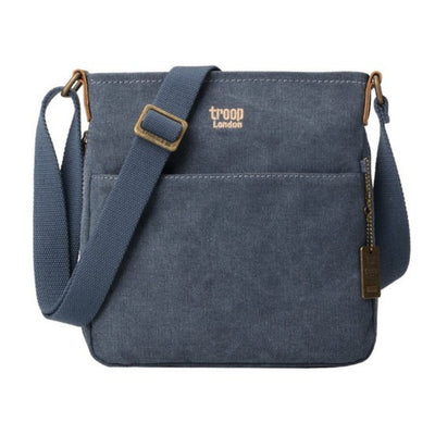 Troop London Small Zip Top Shoulder Bag Blue