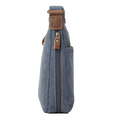 Troop London Classic Small Zip Top Shoulder Bag - Blue