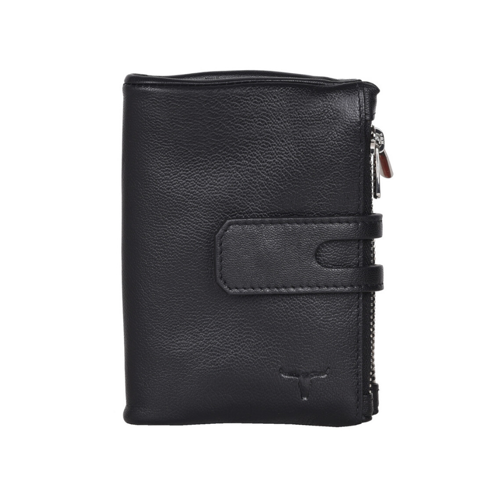 Urban Forest Sierra Wallet W/ Zipped Pockets - Black