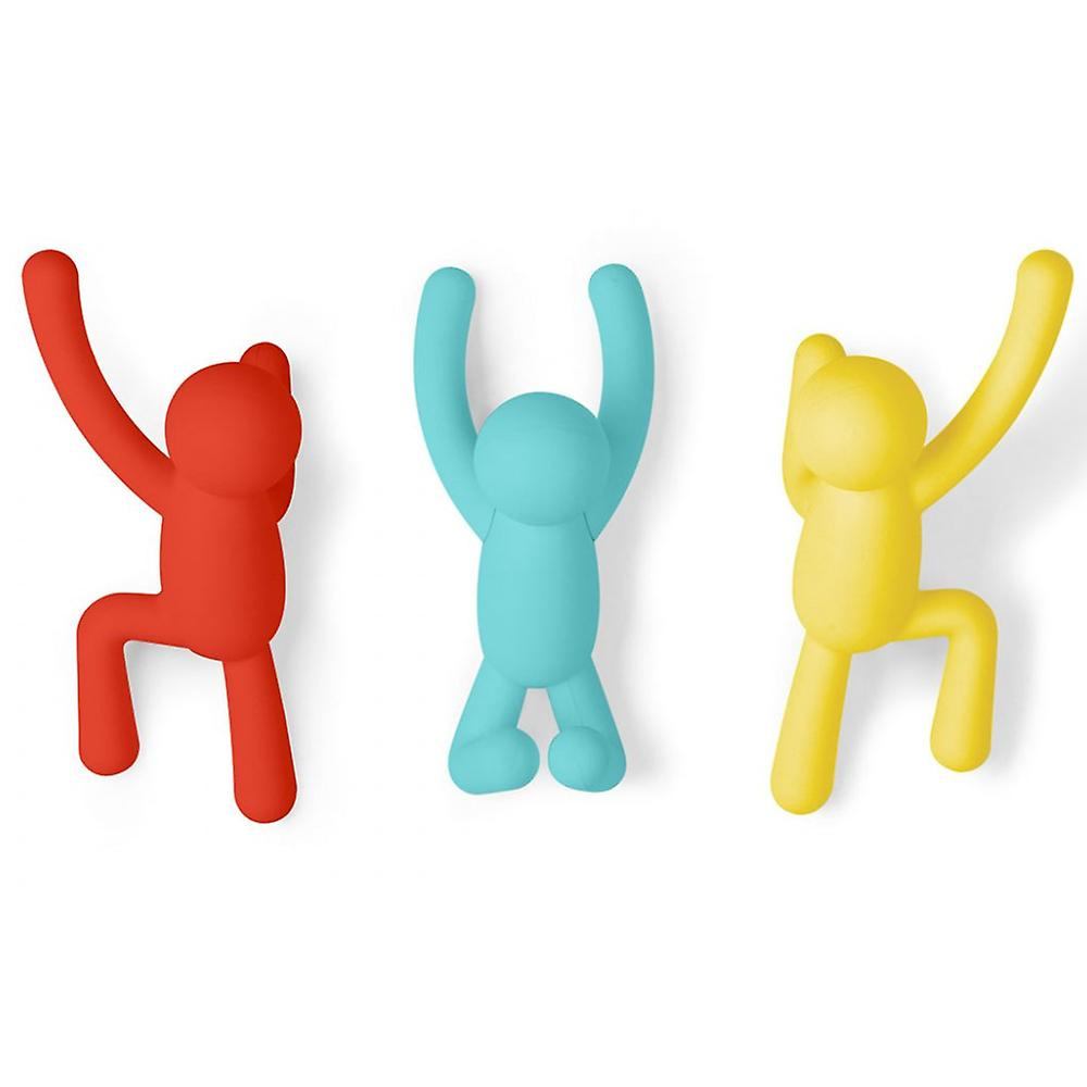 Umbra Buddy hooks set of 3 in bright colours from funky gifts nz