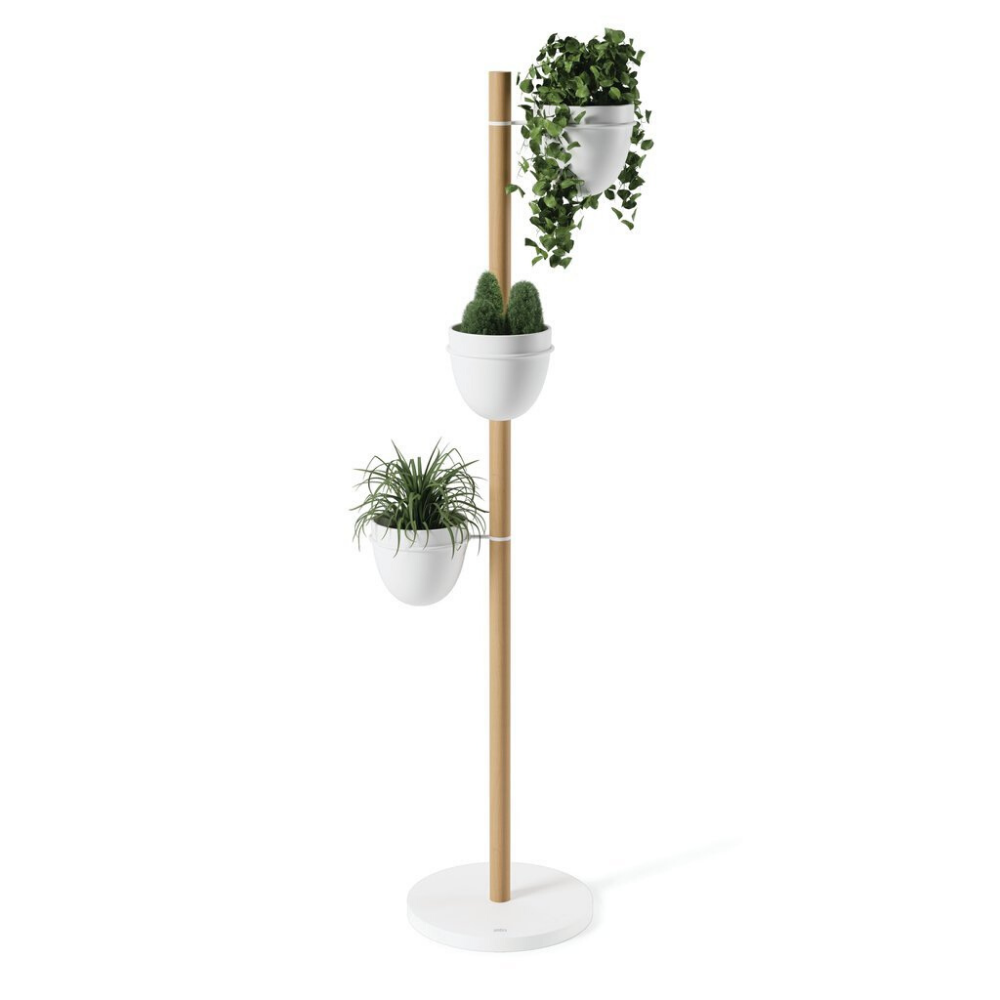 Umbra Floristand Planter in White/Natural from Funky Gifts NZ