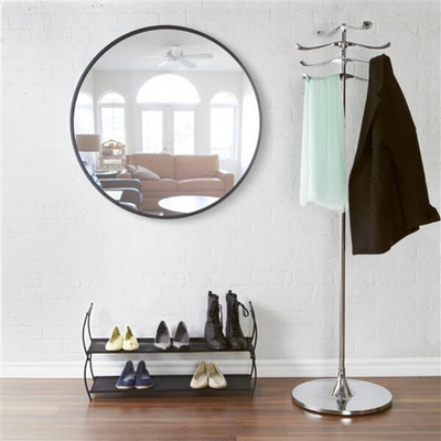 Umbra Hub Black Wall Circular Mirror from Funky Gifts NZ
