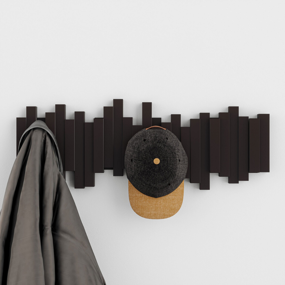 Umbra Sticks Multi Hook Rack in Black from Funky Gifts NZ
