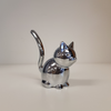 Umbra Zoola Cat Ring Holder in Chrome from Funky Gifts NZ