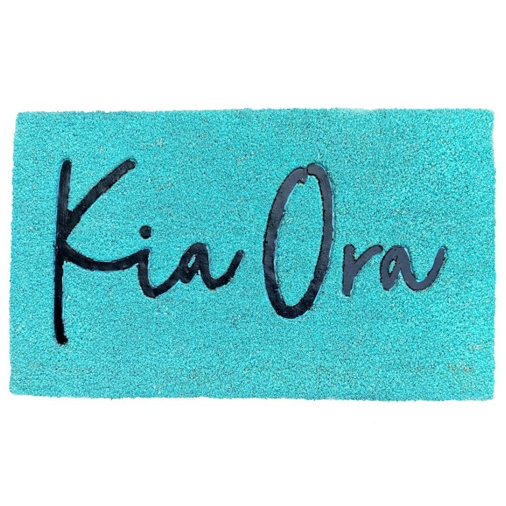 Large Door Mat Moana Road Kia Ora Teal
