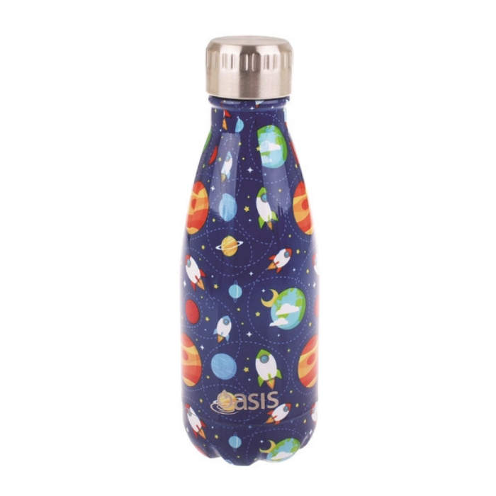 Designer Kids Drink Bottle 350ml - Outerspace