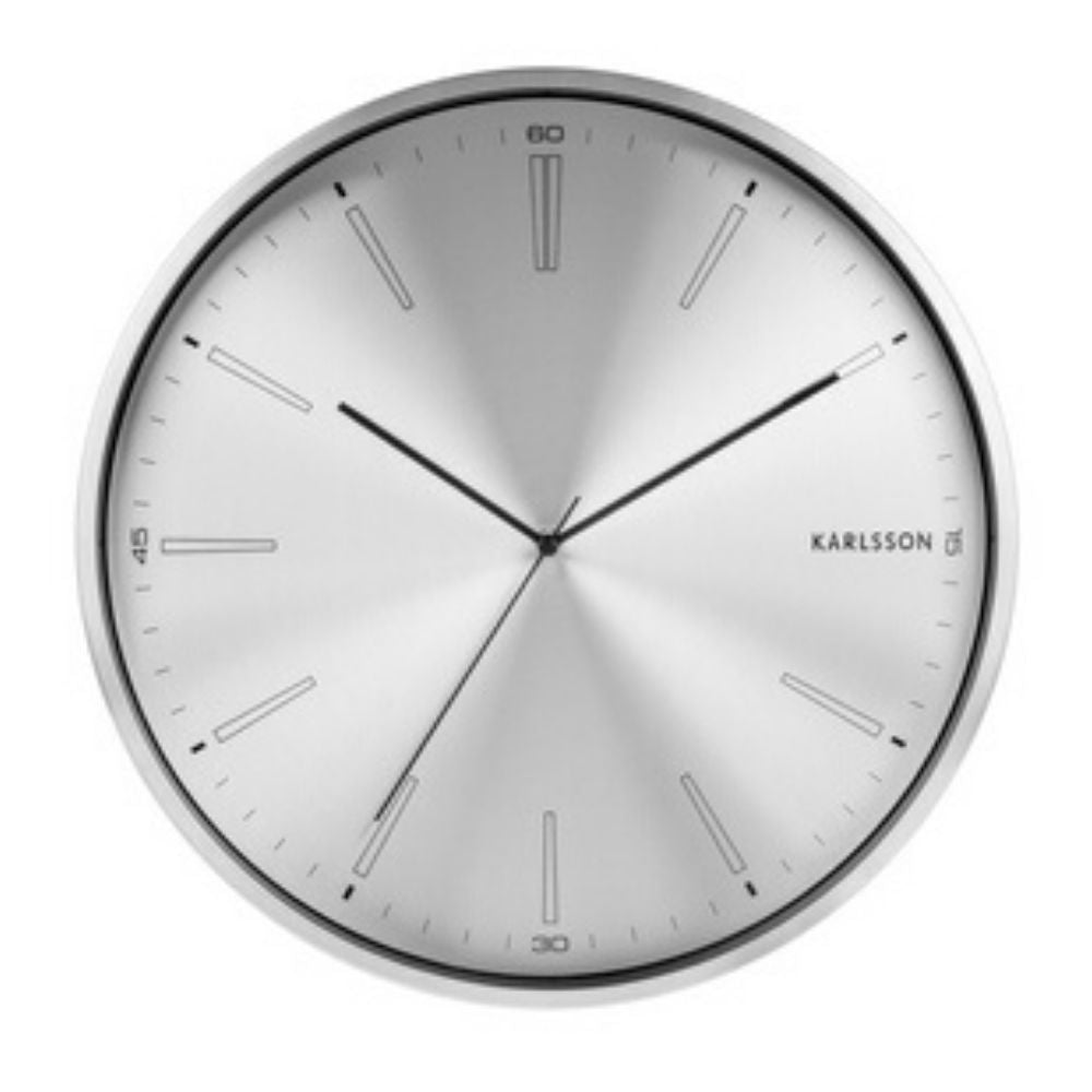 Karlsson Distinct Wall Clock Silver Funky Gifts New Zealand