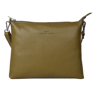Urban Forest Genuine Leather Emma Rambler in Military Green from Funky Gifts NZ