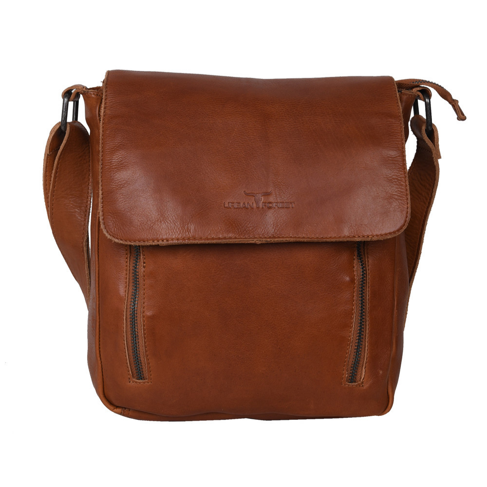 Urban Forest Cooper Leather Body Bag - Riley Cognac
