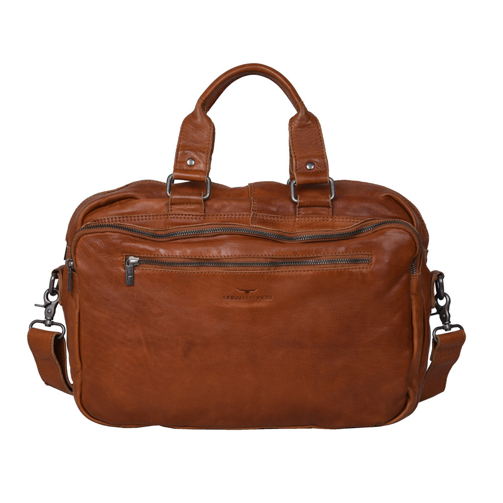 Urban Forest Redford Laptop Satchel/Briefcase - Riley Cognac