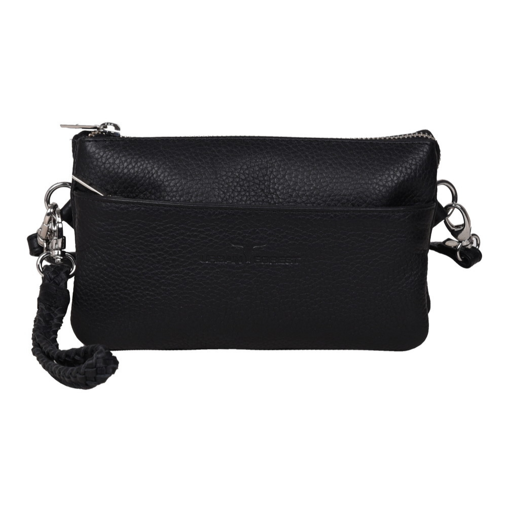 Urban Forest Sofie Leather Clutch/Sling Bag - Black