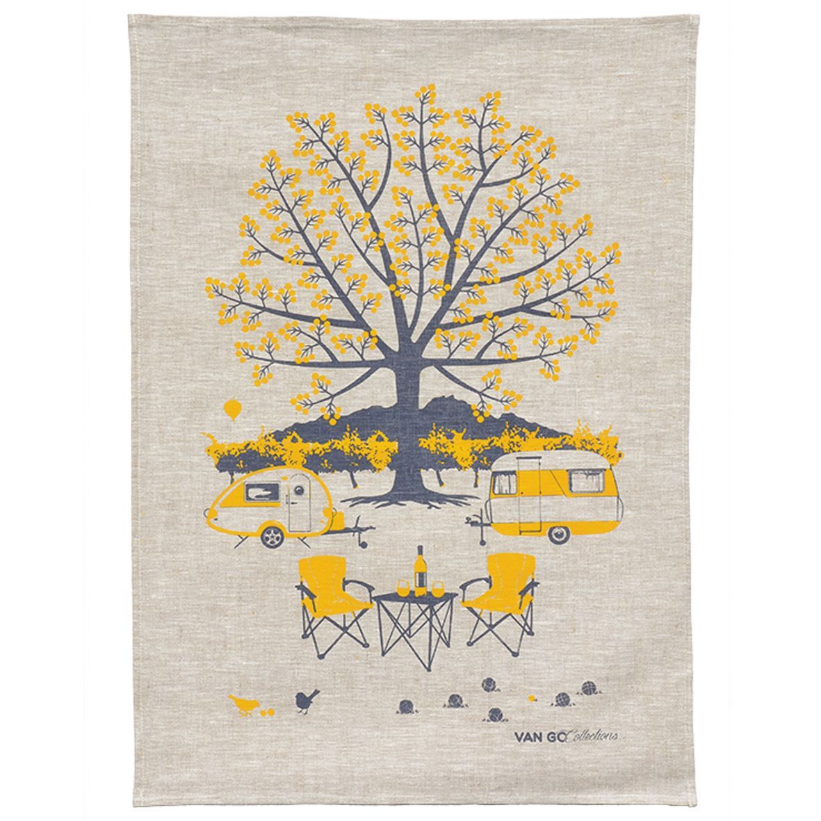 Van Go Collections Autumn Yellow Caravan Tea Towel