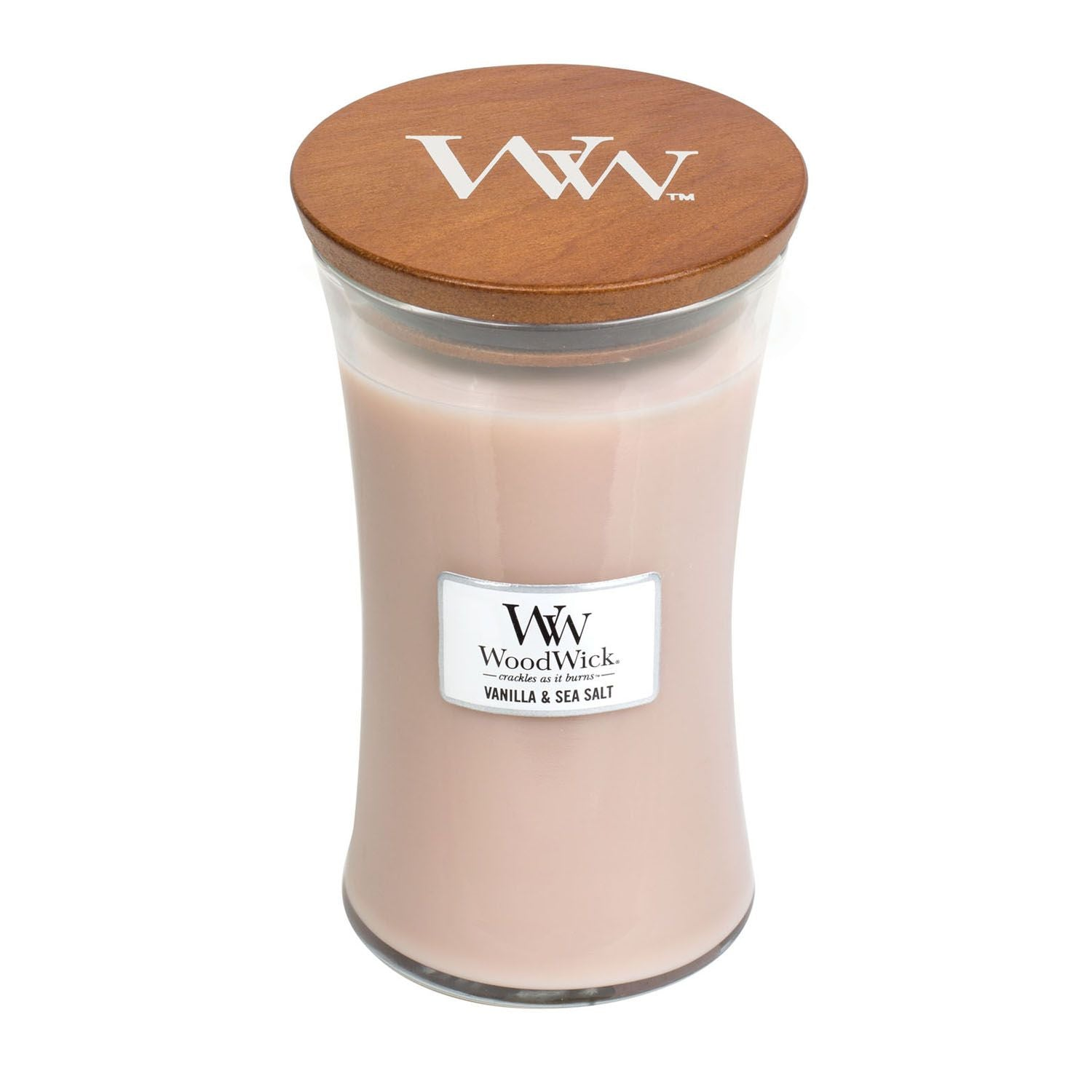 Large Vanilla & Sea Salt Scented WoodWick Soy Candle