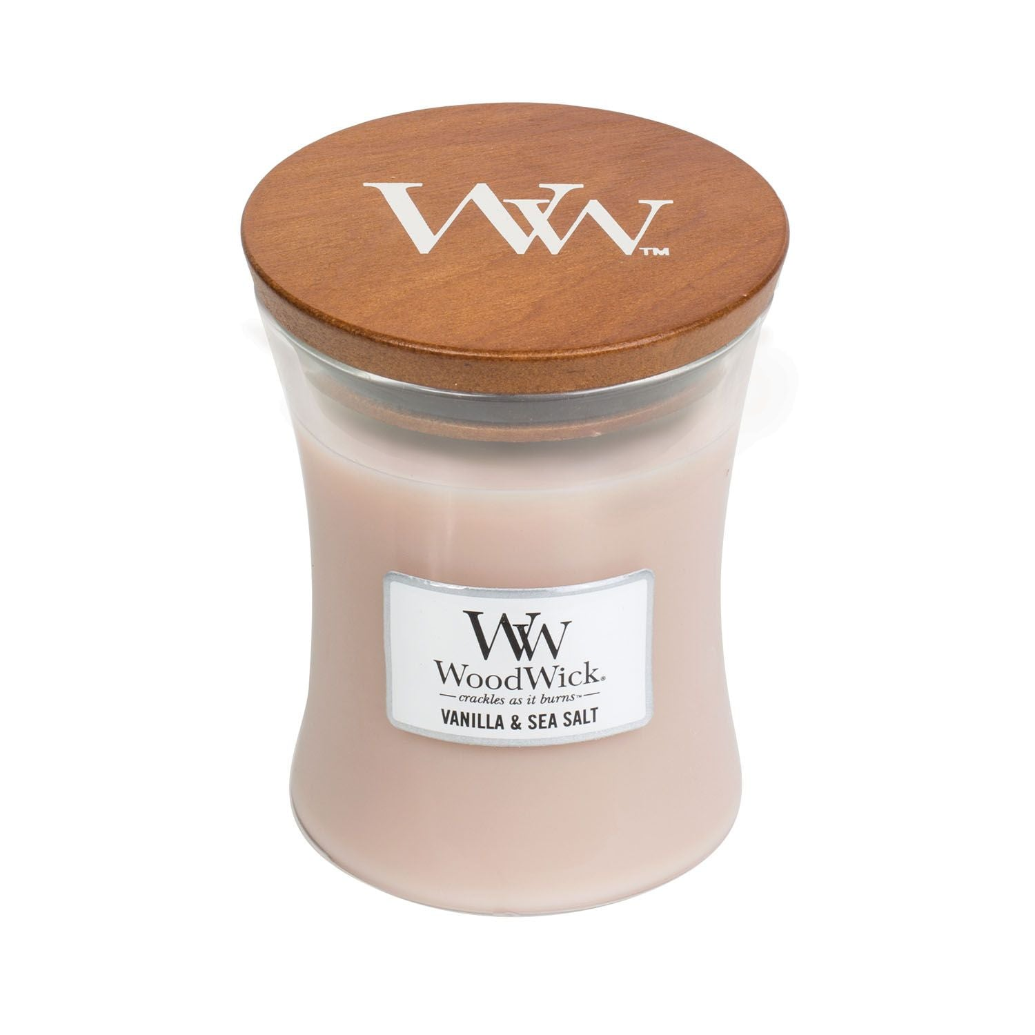 Medium Vanilla & Sea Salt Scented WoodWick Soy Candle
