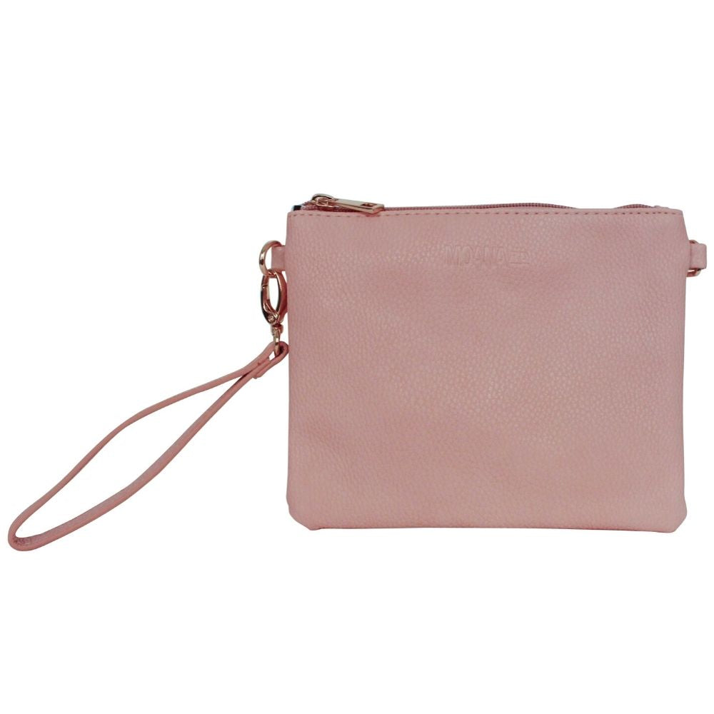 Moana Road Leather Clutch New Zealand Pink