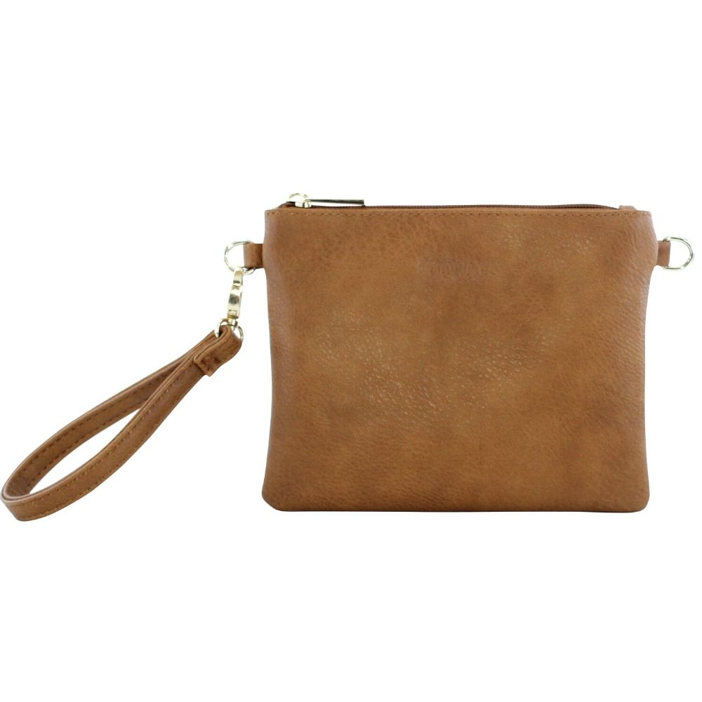 Viaduct Leather Clutch New Zealand Tan Brown
