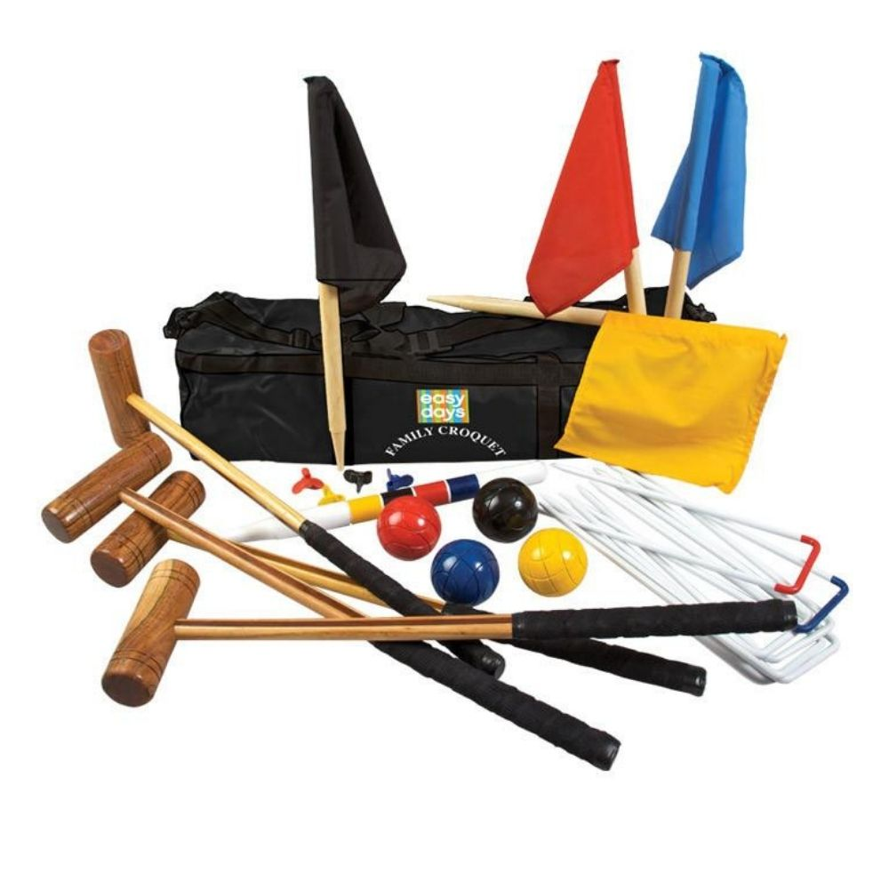 Family deluxe croquet set