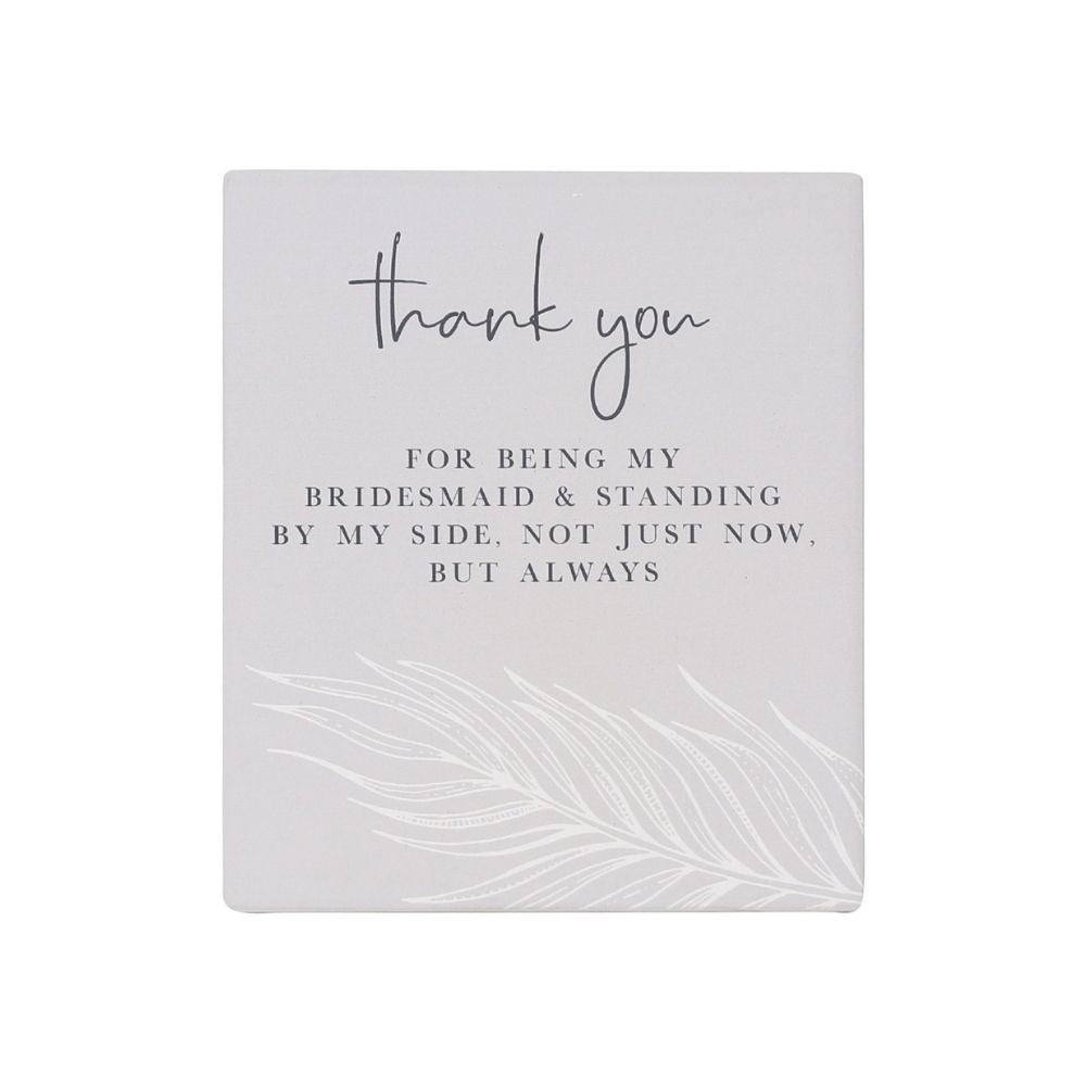 Thank You Bridesmaid Wedding Verse from funky gifts nz