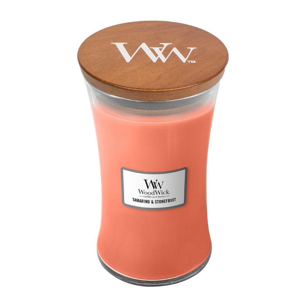Large Tamarind & Stonefruit Scented WoodWick Soy Candle