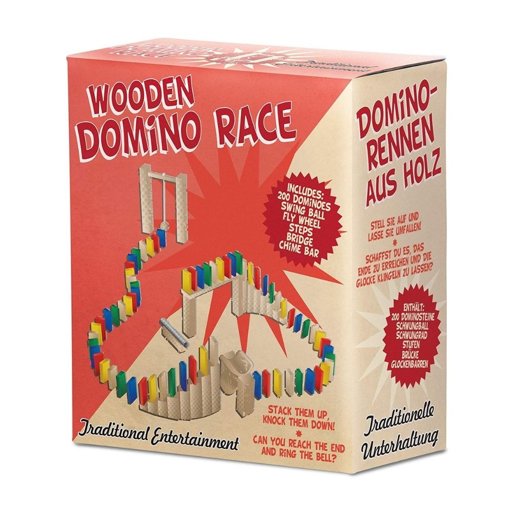 Wooden Domino Race from Funky Gifts NZ