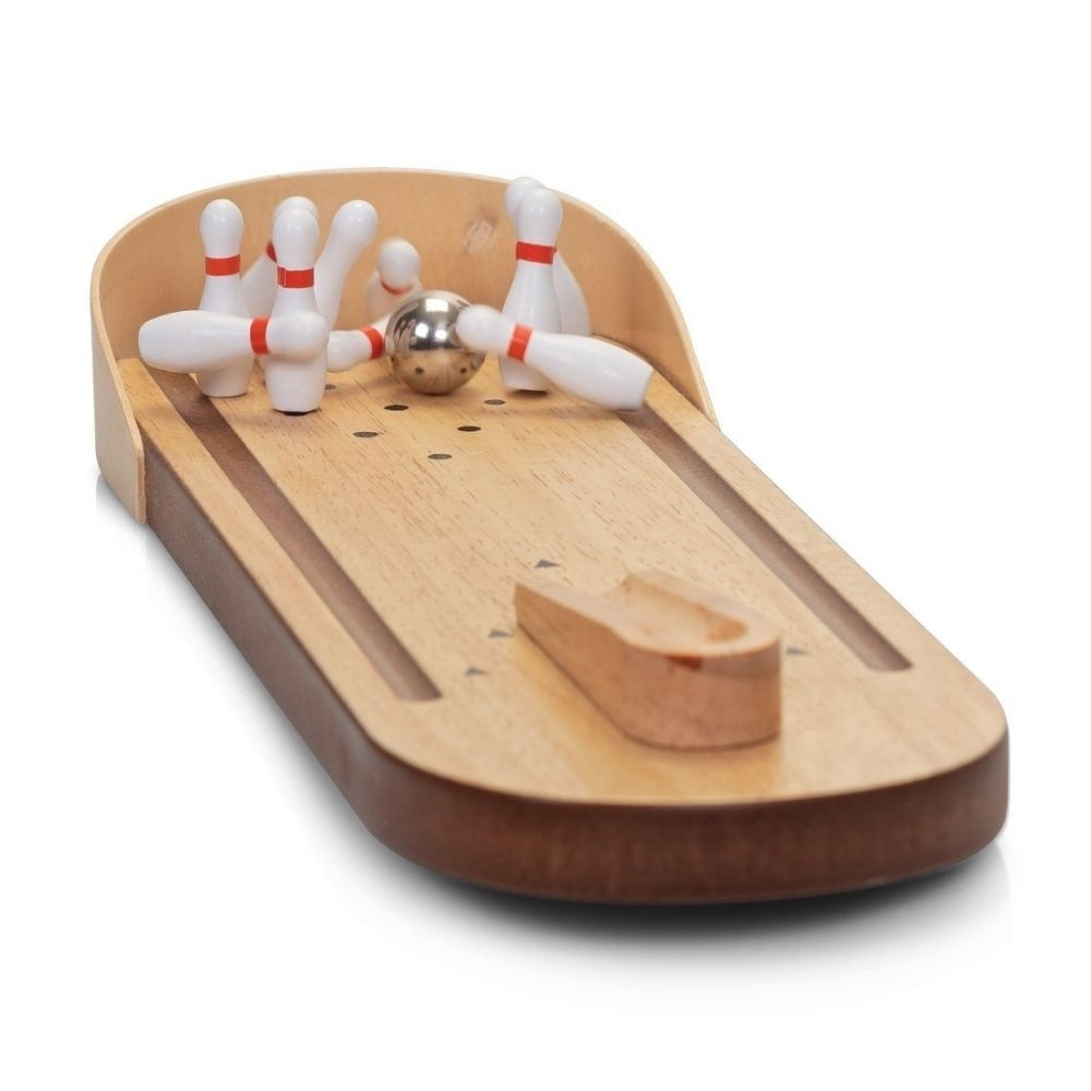 Wooden Classic Game Desktop Bowling from Funky Gifts NZ