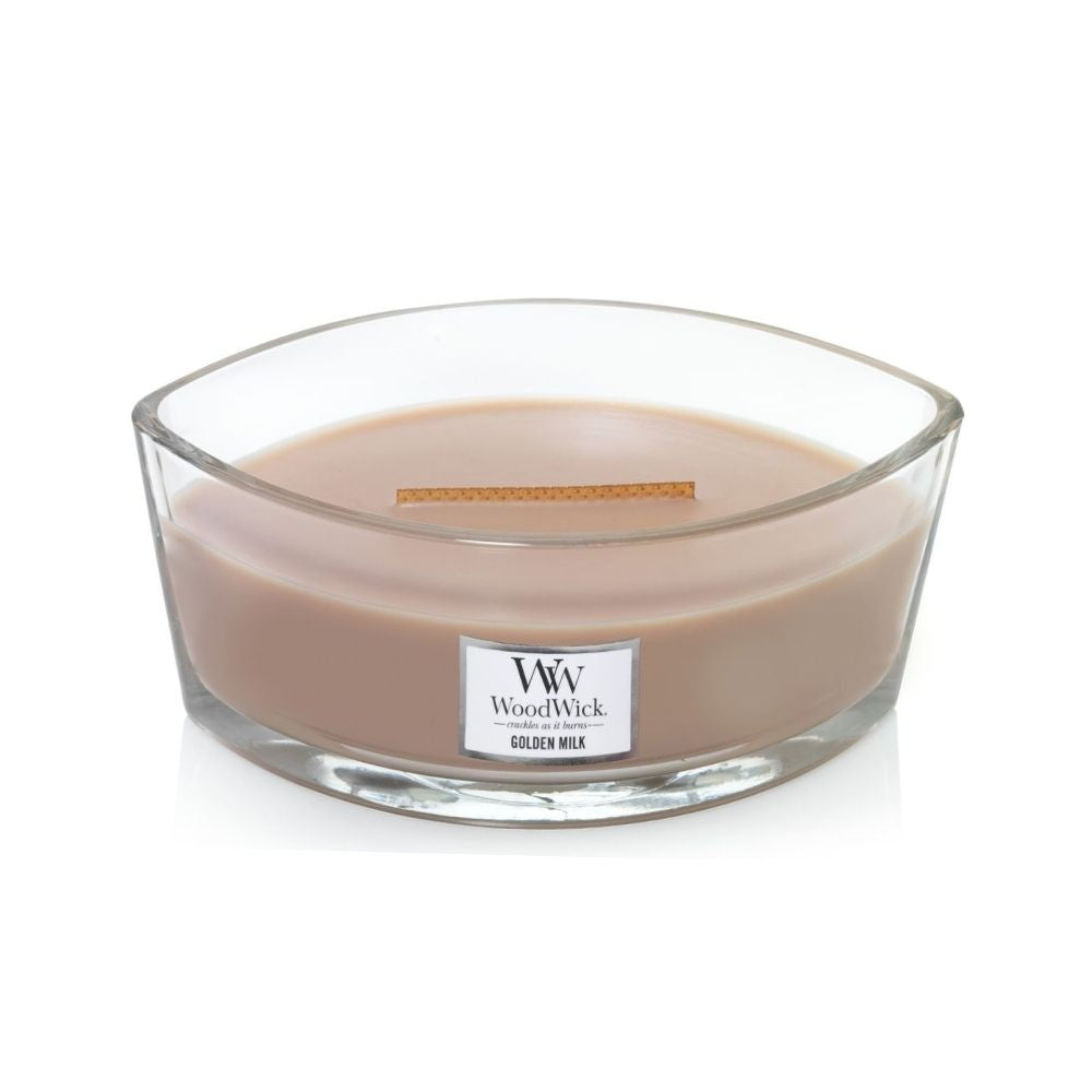 Ellipse Woodwick Soy Candle - Golden Milk