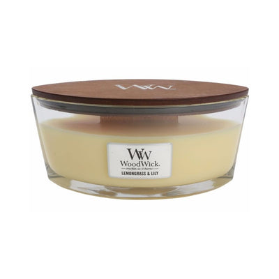 Lemongrass and Lily Ellipse Candle by Woodwick from Funky Gifts NZ