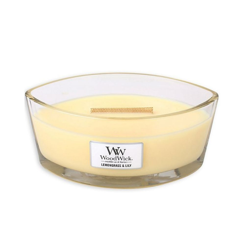 Ellipse Woodwick Soy Candle - Lemongrass & Lily