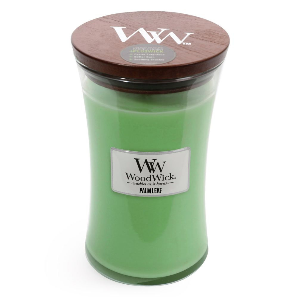 Large Palm Leaf Scented WoodWick Soy Candle