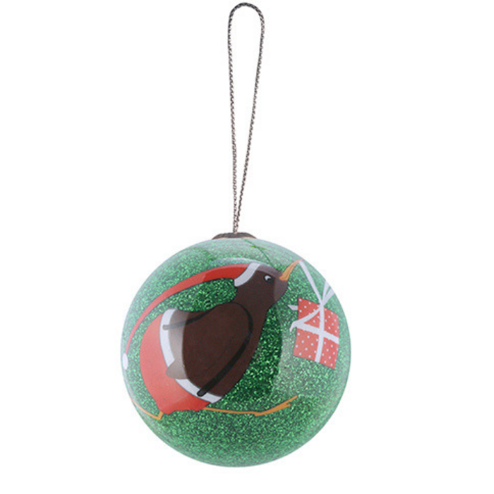 Xmas Ball Kiwi Gift Hanging Decoration