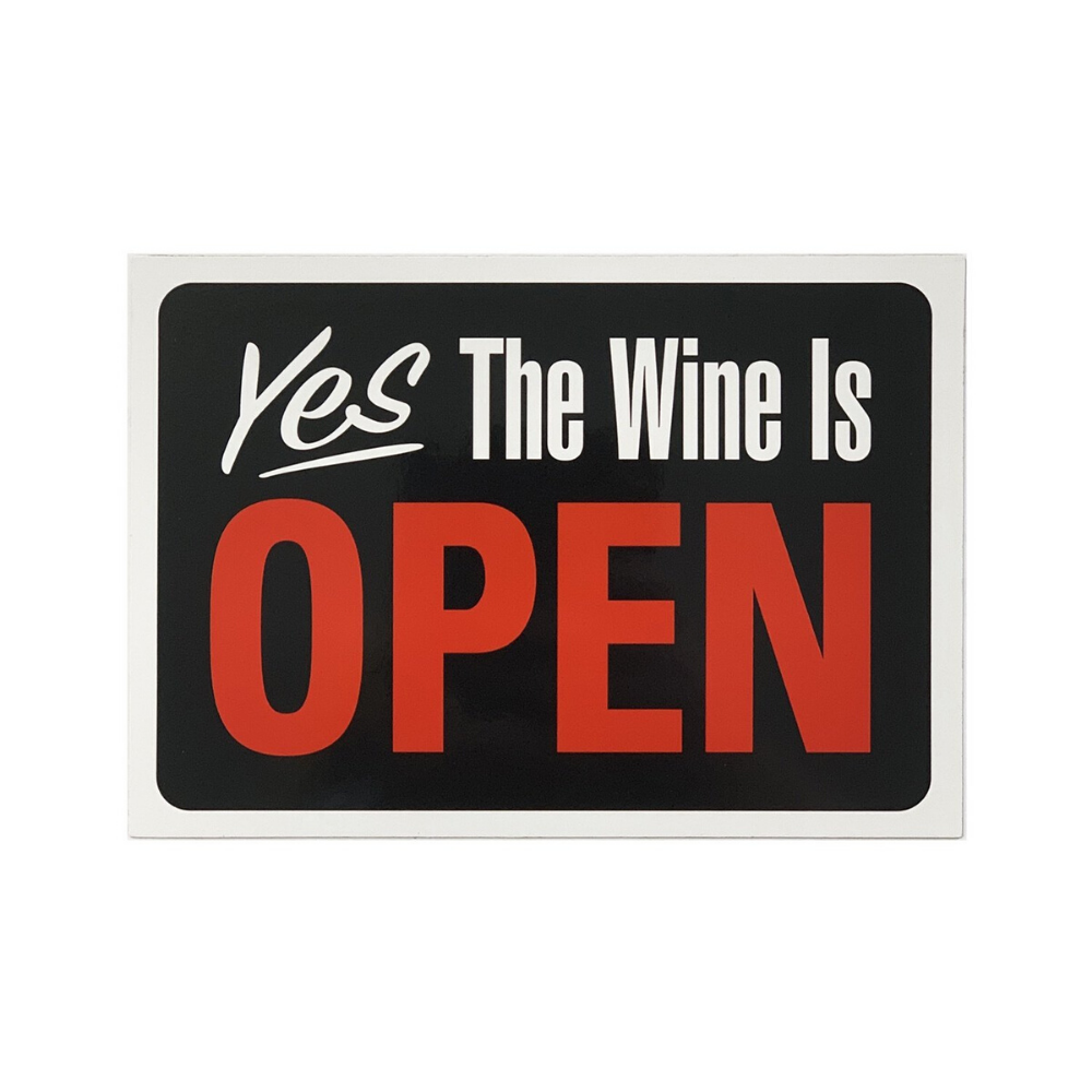 Yes The wine is open large fridge magnet from funky gifts nz