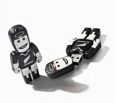 All Black Rugby Player USB